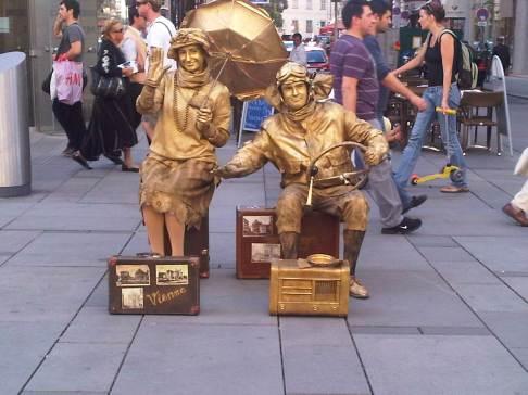 Goldene Straßenkünstler