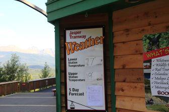 8 - Jasper Tramway temperatures