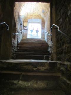 11 - Speyer, Judenhof, Treppe aus Mikwe raus