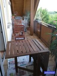 ... und dann Holzmöbel behandeln.