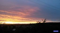 Schöner Sonnenuntergang (trotz Sturmböen und Regen vorher).